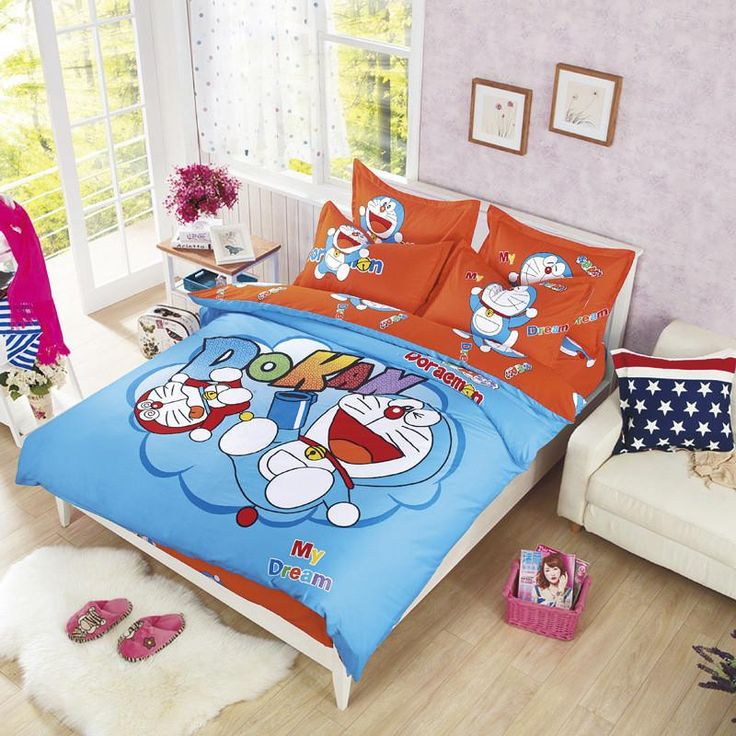 new bedding cartoon hello kitty mickey mouse quilt cover sets soft polyester bed linen flat bed sheet set pillowcase
