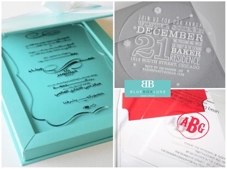 Proper Way To Stuff Wedding Invitations: Clear Acrylic Wedding Invitations