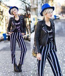 Mikuta - Topshop Pants, Depeche Boots, Zara Jacket, Zara Tshirt - Blue & stripes