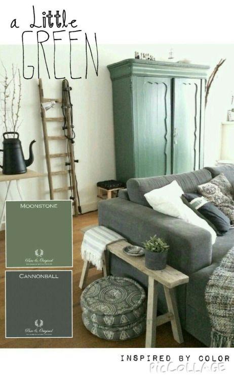 A Little Green at home pureandoriginal-paint ankevandenhurk ♡ ~Rustic Living ~GJ *  www.rusticlivingbygj.blogspot.nl