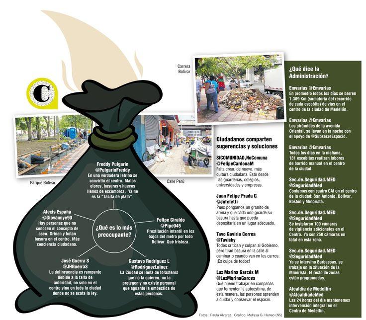 La percepción de un aumento en la inseguridad, de más presencia de habitantes de calle y de basuras en las aceras, genera la sensación de descuido entre los ciudadanos que recorren el Centro día a día.