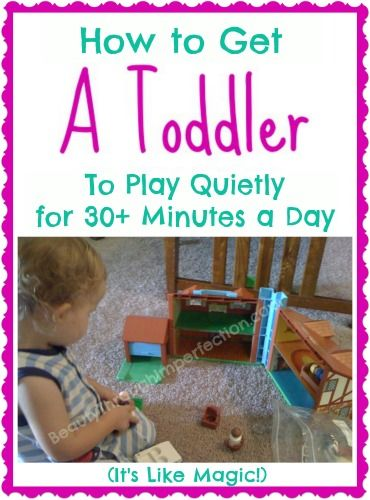 Oh my gosh, this really is like magic!!!!  How to get a toddler to play quietly for 30+ minutes every day!!!! Oh the things I could do with 30 minutes of peace!