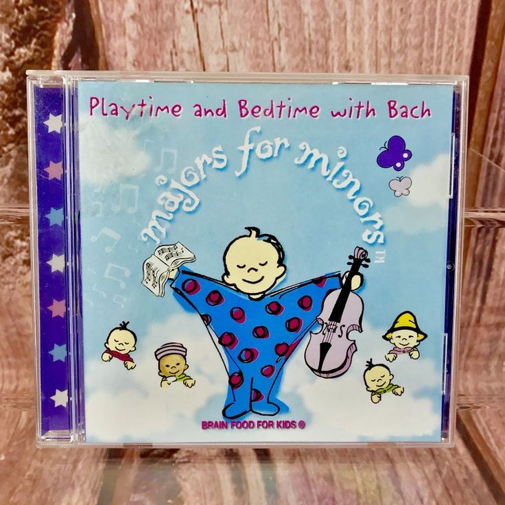 Majors for Minors Bedtime & Playtime With Bach CD Kids Children's Toddlers songs