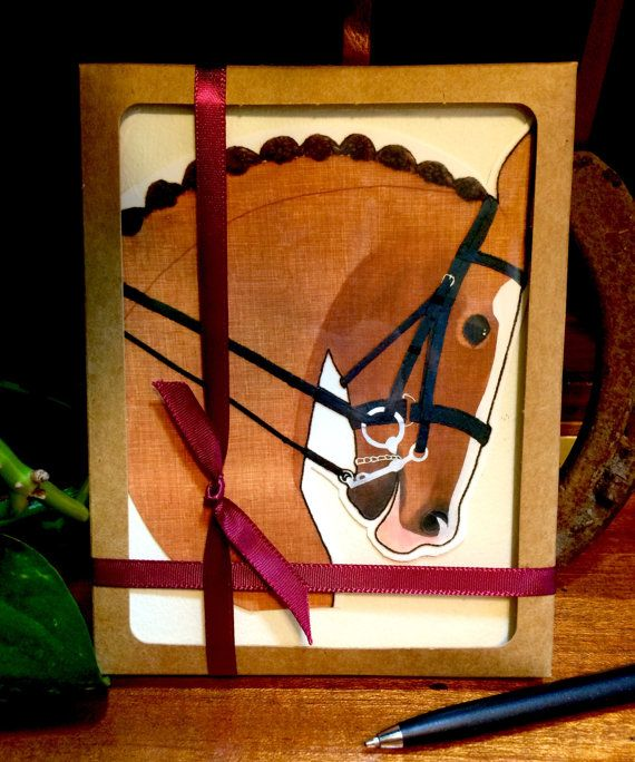 The Greeting Card Gift Set of 8: Dressage by TheArtfulEquine
