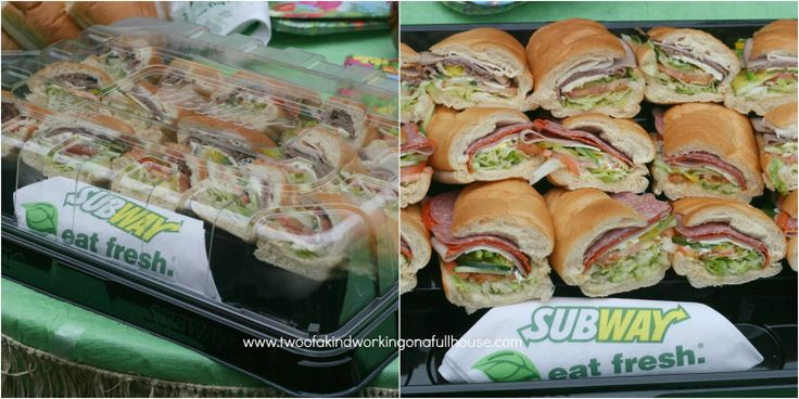 SUBWAY Catering Makes Birthday Party Planning Easy + $50 SUBWAY Gift Card Giveaway