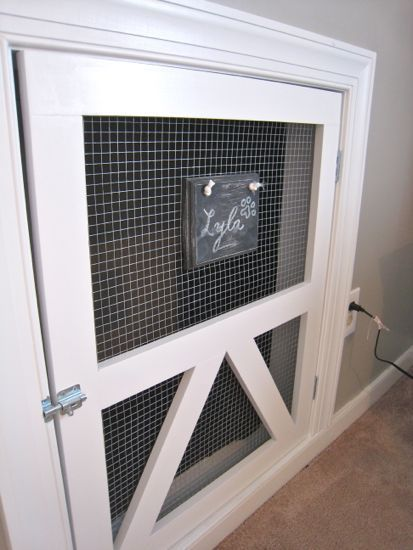 how to make a built in dog crate under stairs - Google Search