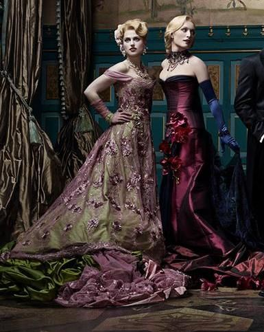 Katie McGrath's dress in this image is stunning. How I wish I lived in a time or place where it was appropriate to wear these sort of gowns