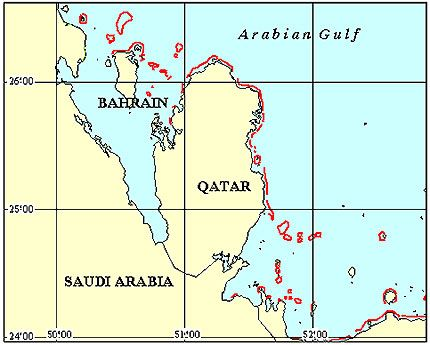 Bahrain Coral Reef Maps - http://www.withinthesea.com/reef-maps/bahrain-coral-reef-maps/