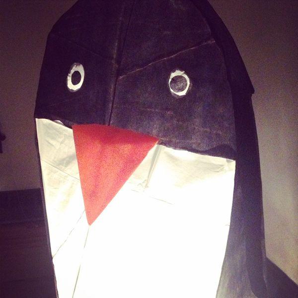 Penguin Lantern for the Fernie Lantern Festival - on Saving Knots