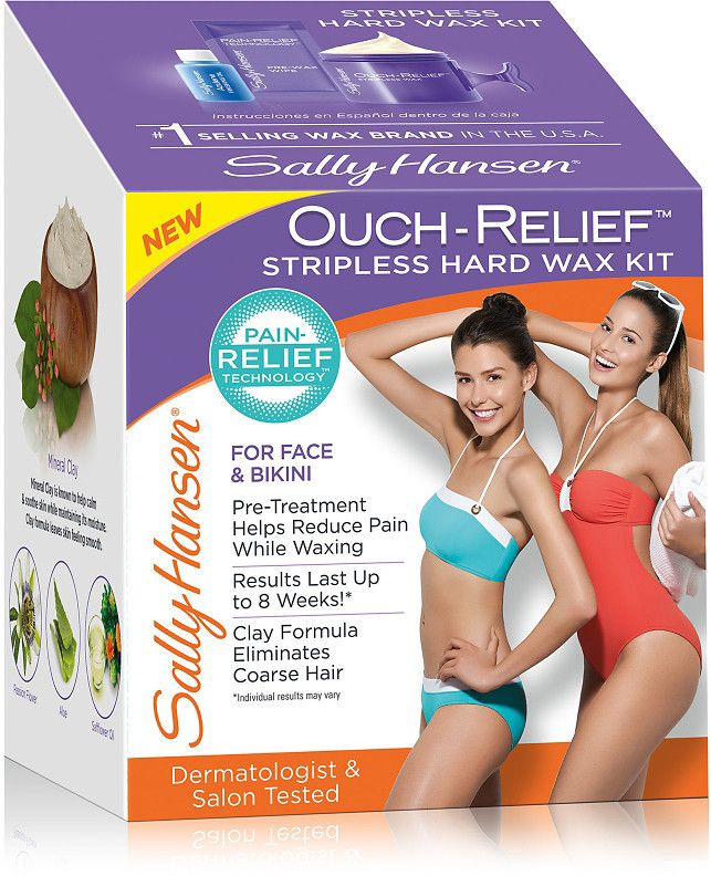 Sally Hansen Ouch-Relief Stripless Hard Wax Kit For Face & Body