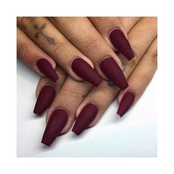 Matte burgundy nails for winter are SO gorgeous!! #newnails #nailinspiration #re…