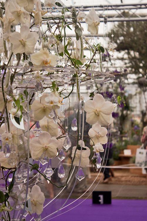 RHS Chelsea Flower Show 2012 Floral Chandelier Joe Massie