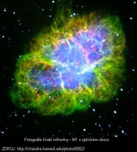 NGC 1952, Krabí mlhovina – Krabí mlhovina je pozůstatkem po výbuchu supernovy v roce 1054 v souhvězdí Býka. V době výbuchu byla supernova 6krát jasnější než Venuše. Na denní obloze zářila po dobu třiadvaceti dní. Na noční obloze pak byla vidět ještě asi rok. Čínští astronomové ji popisovali jako hvězdu s ostrými paprsky směřujícími do čtyř stran, zářící červeno-bílou barvou.  Výbuch této supernovy zaznamenali i američtí Indiáni z kmene Anasazi v severní Arizoně v USA.