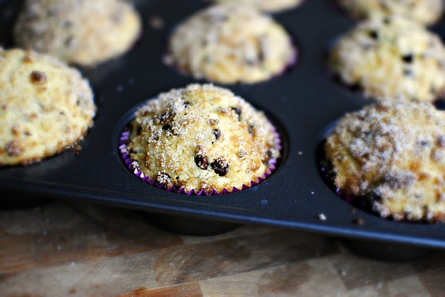 Sugar Crusted Chocolate Chip Muffins | Good enough to eat | Pinterest