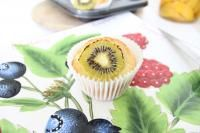 Zesty Kiwifruit Muffins on MyRecipeMagic.com  These kiwifruit muffins have a lovely light fluffy texture with a real kiwifruit flavor.