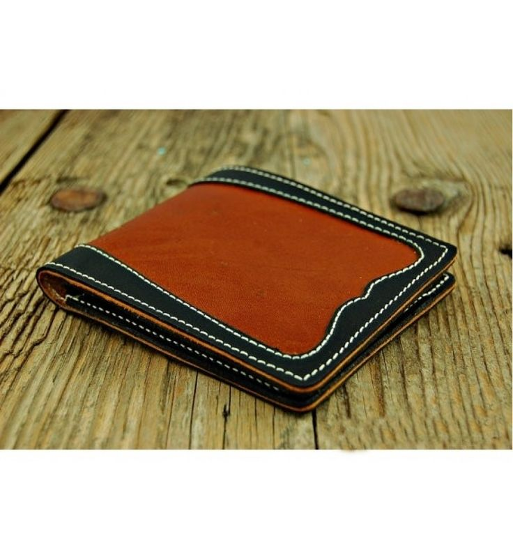 Curved Design Leather Men Wallet