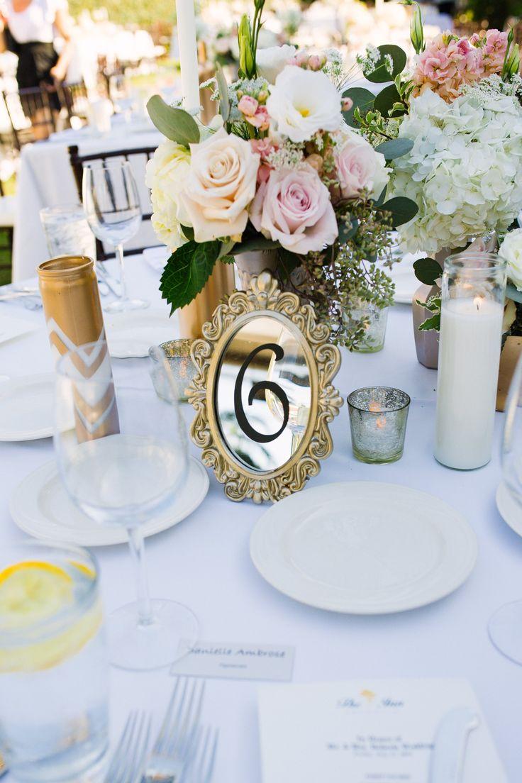 Pure Lavish Events, Blush Wedding, Luxury Wedding, Outdoor wedding, Wedding Gown, Wedding Photography, Mirrored Table Number, Vintage Centerpiece, Wedding Centerpiece, Mercury, Blush Wedding, Ivory Wedding