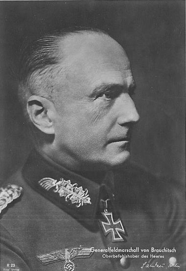 Generalfeldmarschall Walther von Brauchitsch -