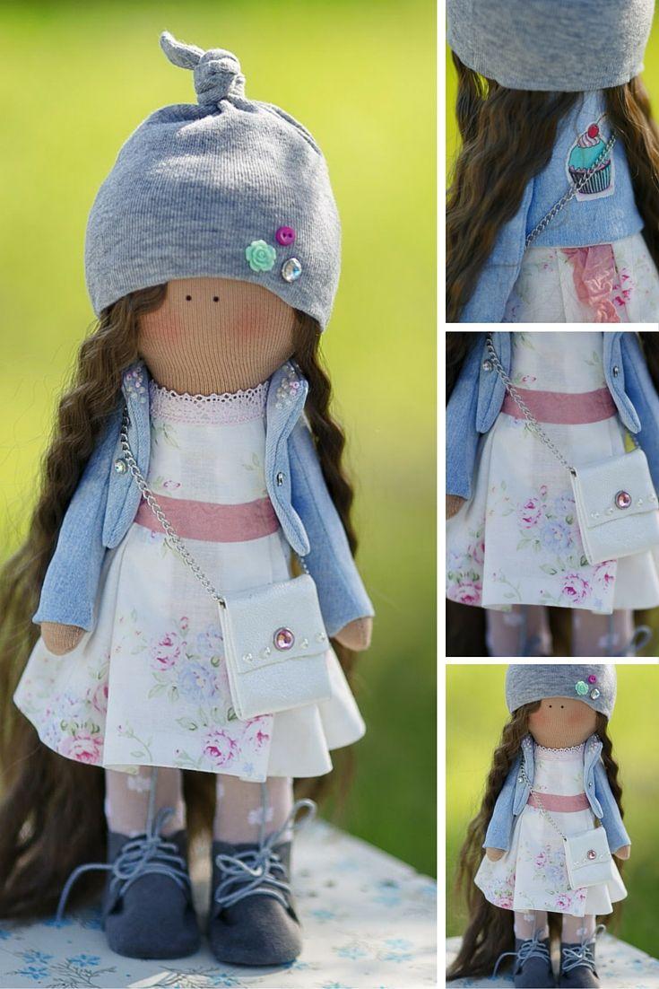 Tilda doll handmade, art doll, baby doll, textile doll, fabric doll, cloth doll, soft doll, home doll