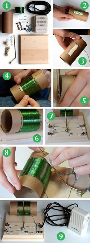 """""""Crystal Radio: A Science Kit for Student Electronics"""": Build a crystal radio and then tune in an AM radio station--without batteries. An improved crystal radio kit and an updated procedure makes this a great choice for an assigned #science project or just for hands-on #electronics fun! [Source: Science Buddies, http://www.sciencebuddies.org/blog/2014/03/crystal-radio-a-science-kit-for-student-electronics.php?from=Pinterest] #STEM #scienceproject #crystalradio"""