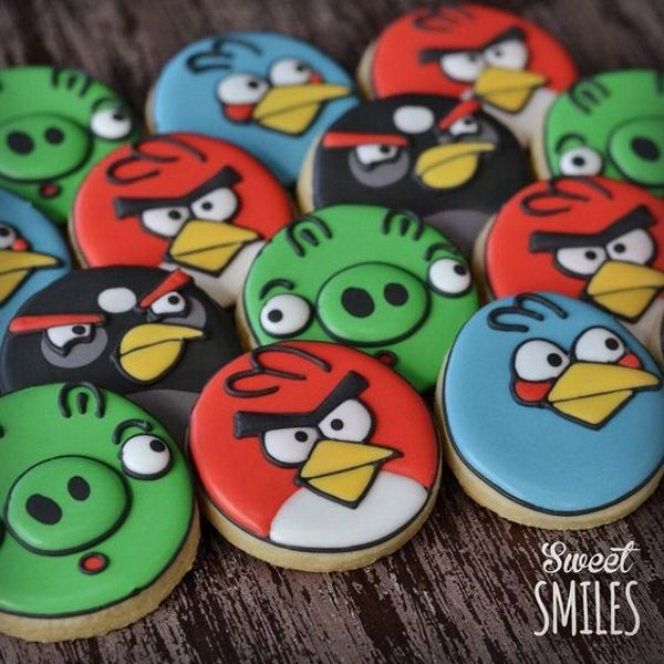 Angry Birds Decorated Sugar Cookies