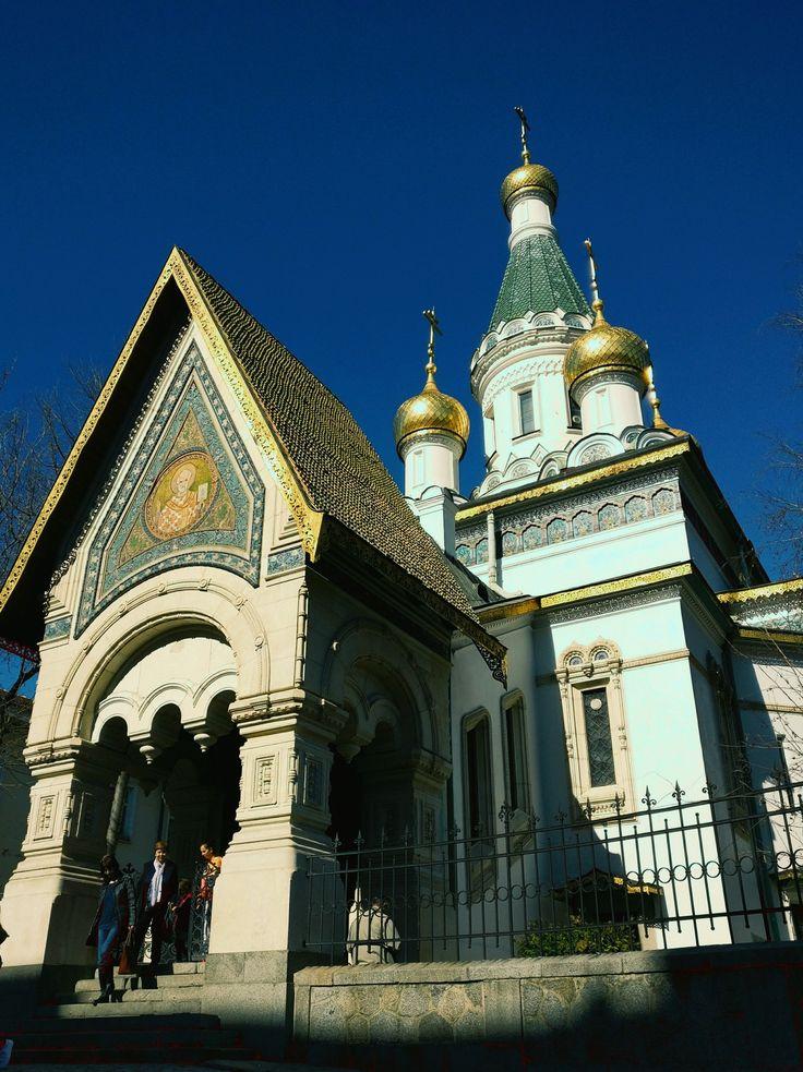 Sofia Bulgaria. Russian Church of St Nicholas.