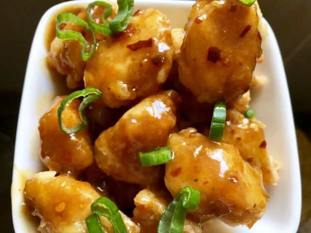 narancsos kínai csirke falatok