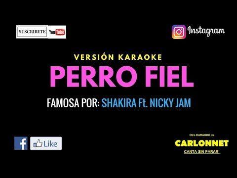 Perro fiel - Shakira feat Nicky Jam (Karaoke)