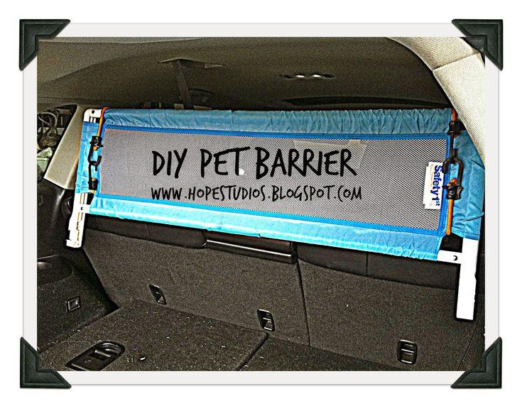 Hope Studios: Last Minute Pet Barrier for SUV