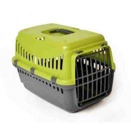 Reismand Transporter Gipsy Donkergrijs / Groen#Eenvoudig vervoersbox voor kleine hond of kat.