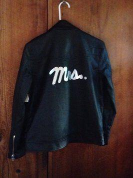 Custom-Made Biker Bride Punk Rocknrool Wedding Black And Silver Jacket $70