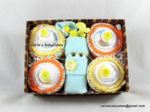 Washandje Cupcakes  Nieuwe Mom cadeau  Baby door MsCarlasBabyCakes