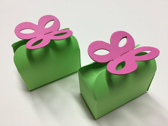 Lime Green And Pink Favor Boxes Lime Green by CutNCreateCanada