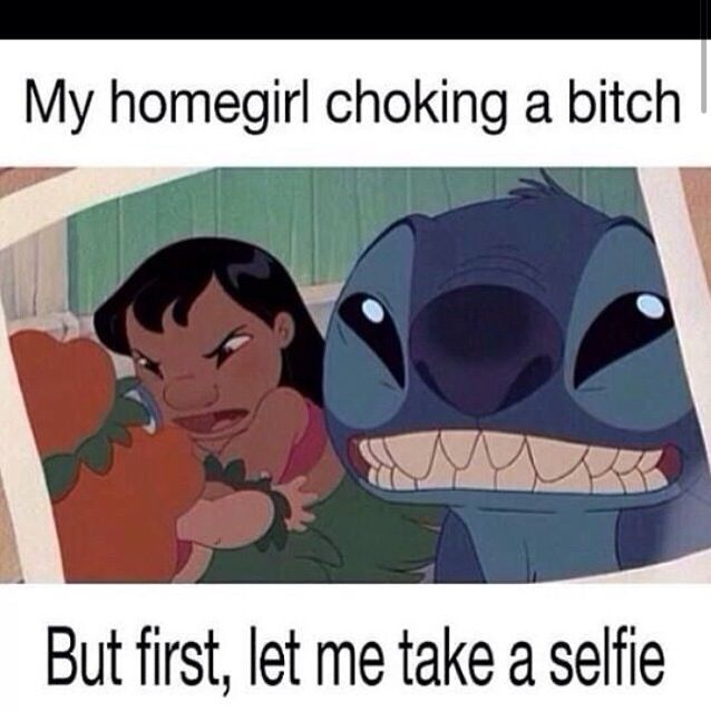 LILO and stitch funny #selfie