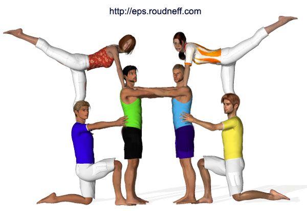 Eps sport figurines 3D - 4: Acrogym