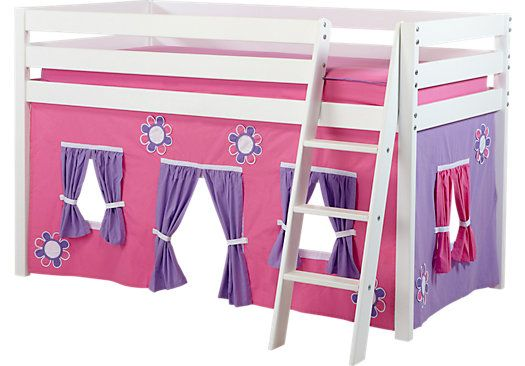 Best Shop For A Pink Cottage White Loft Bed At Rooms To Go Kids 640 x 480