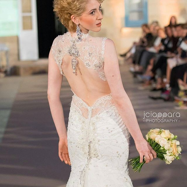 #Repost @jciapparaphotography with @repostapp ・・・ @bevvx modeling for @annaromysh during the Malta Fashion Week 2016 - #MFWA • #Fashion #Bridal #Show #Designer