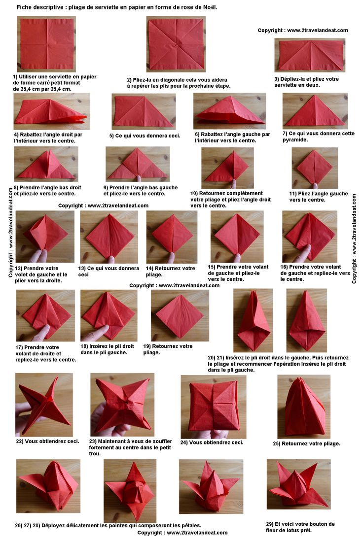 Les 25 meilleures id es de la cat gorie pliage serviette - Pliage de serviette en papier pour noel facile ...