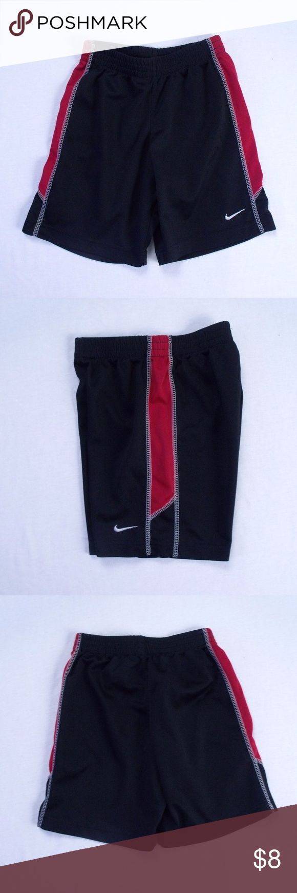 Boys Nike Shorts Size: 6  ~ Nike black and red shorts. ~ 100% Polyester ~ shorts are in nice condition Nike Bottoms Shorts