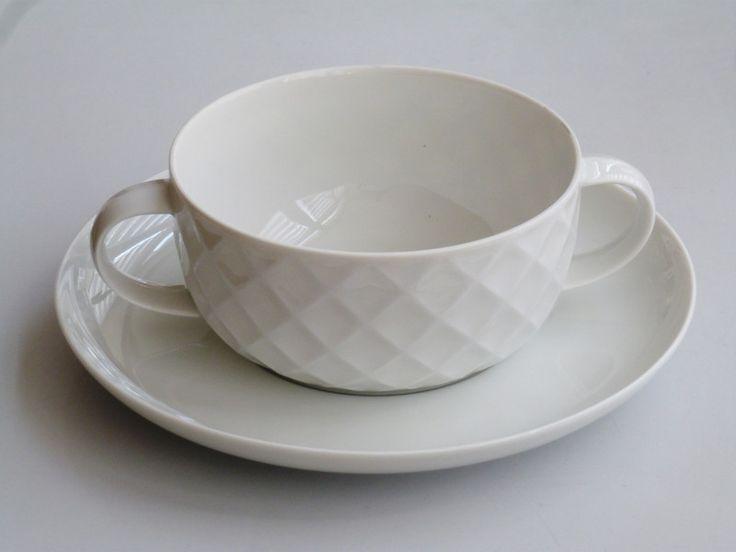 Vintage Schalen - :: 6 Suppentassen + Teller Thomas Holiday :: - ein Designerstück von zakkaya-vintage bei DaWanda