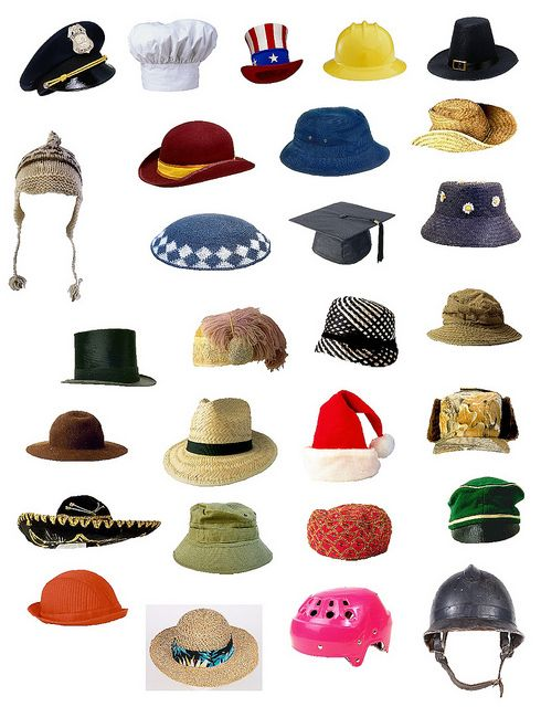 Print and cut out and draw a character under hat and tell a story about that person.