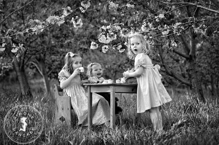 Tea Party in the cherry blossoms! We so nearly didn't get to do this...we arrived and these blossoms were the only ones left in the whole orchard! But we managed it and it's divine :) © Simone Hanckel Photography