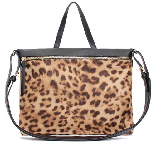 Leather Crossbody Bag Leopard Shoulder Bag at doozybag.com