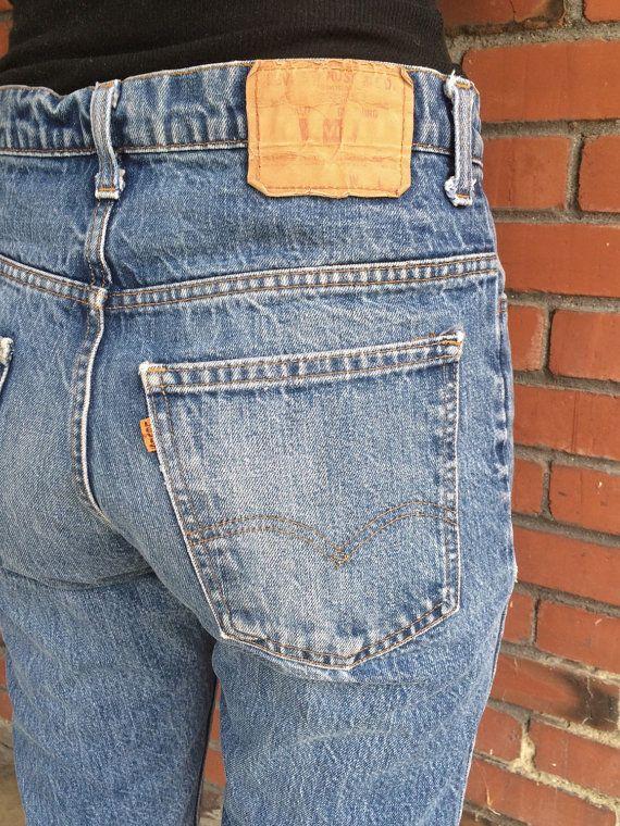 da8f4943 Vintage Levi's High Waisted Jeans 31 Waist 519 Orange Tab   Levi's Orange  Tab Jeans   Levis high waisted jeans, High waist jeans, Jeans
