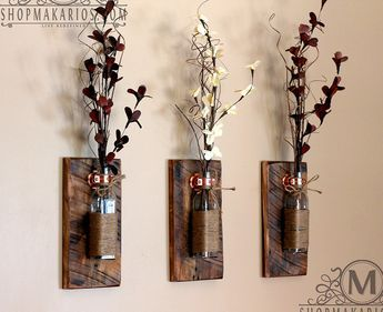 Rustic Wall Sconces;   these are really neat...a little pricy but they look beautiful.