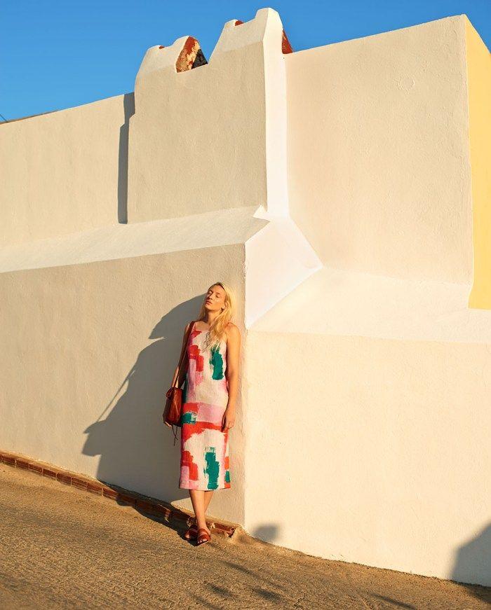 TOAST . women . printed dress . summer 2015 . Photograph by Nicholas James Seaton . toa.st