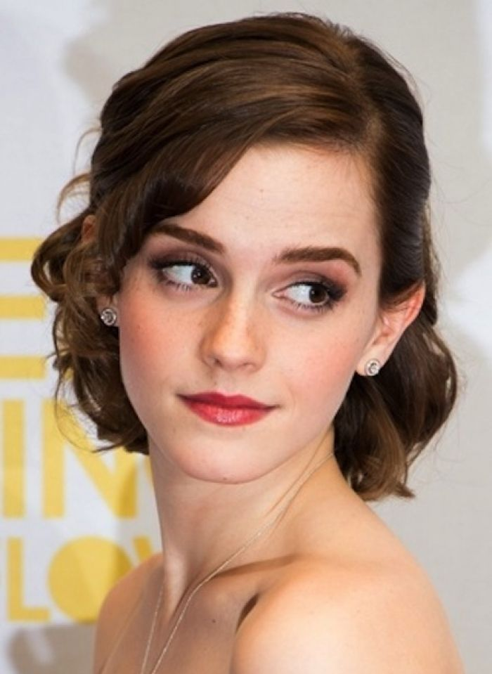 Short Hairstyles Short Hairstyles For Bridesmaids Wedding For Bridesmaid Updos For Short Hair Braidsfors Short Wedding Hair Emma Watson Hair Short Hair Updo