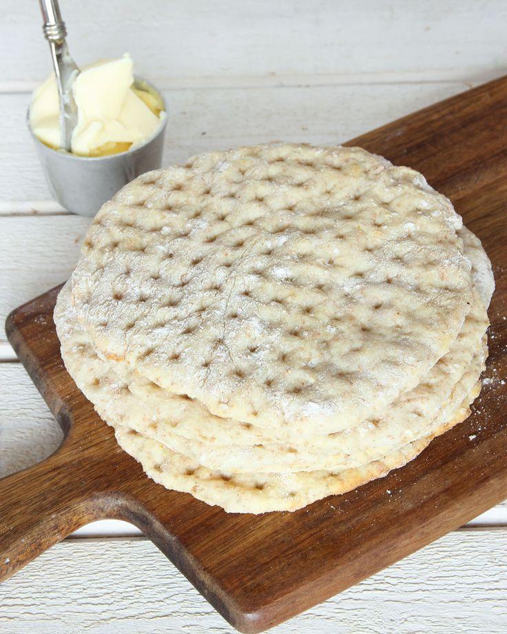 Gudomligt goda, tunna bakpulverbröd som är enkla att göra.