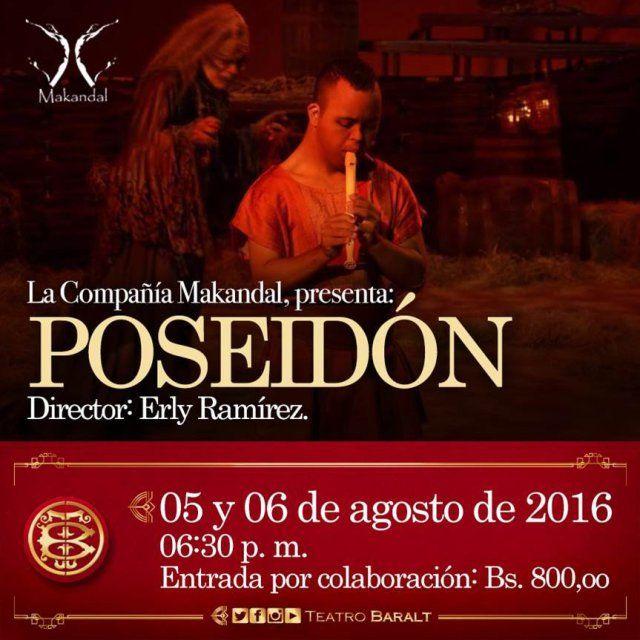 «Poseidón» llega al Teatro Baralt de Maracaibo