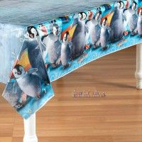"Happy Feet ""Two"" Table Cover  http://hardtofindpartysupplies.com/Happy-Feet-Party-Supplies/Happy-Feet-2-Plastic-Table-Cover-Tablecloth"